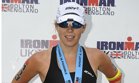 Amy Kilpin all'Ironman, Bolton.